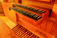 Pipe organ in college chapel Royalty Free Stock Image
