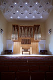Pipe organ with control panel in concert hall Stock Photography