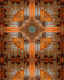 Pipe Organ cross. Kaleidoscope cross from photo of large pipe organ, Mt. Angel Abbey, Oregon Royalty Free Stock Image