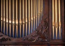 Pipe Organ Detail Royalty Free Stock Images
