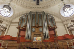 Pipe organ in The Great Hall inside the Methodist Central Hall, Westminster Stock Photos