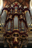 Pipe organ in the Grote Kerk in Haarlem, Netherlands. Royalty Free Stock Photography