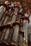 Pipe organ in the Grote Kerk in Haarlem, Netherlands. Stock Images