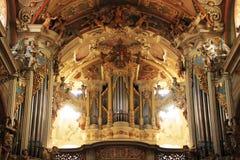 Pipe Organ In Basilica Royalty Free Stock Photo