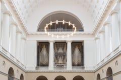 Pipe Organ inside Vor Frue Church, Copenhagen Royalty Free Stock Images