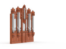Pipe organ isolted on white. 3D rendering Royalty Free Stock Images