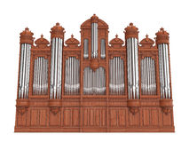 Pipe organ isolted on white. 3D rendering Stock Photo