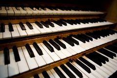 Pipe Organ Keyboard stock photography