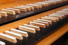 Pipe organ keyboard Stock Photos