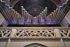 Pipe Organ in Michigan church Stock Image