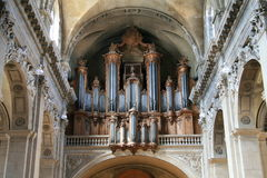 Pipe Organ of Nancy Royalty Free Stock Photography