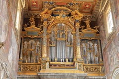 Pipe organ (Papal Archbasilica of St. John in the Lateran) Royalty Free Stock Photography
