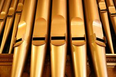 Pipe Organ. In a church Stock Images