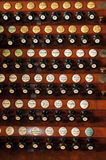 Pipe organ register Stock Photography