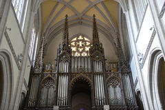Pipe organ in Saint Elisabeth Cathedral Stock Images