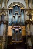 Pipe organ in Santa Maria de Montserrat Abbey Stock Image
