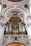 Pipe organ St. Stephen& x27;s Cathedral. Pipe organ at St. Stephen& x27;s Cathedral in Passau Germany Royalty Free Stock Images