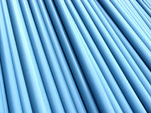 Pipe Pile 1. Stacked blue PVC plumbing tubes royalty free stock image