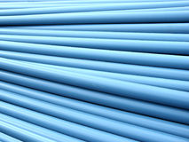 Pipe Pile 2. Stacked blue PVC plumbing tubes royalty free stock images