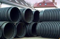 Pipe, plastic, large, diameter, huge Stock Photography