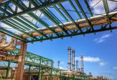 pipe rack royalty free stock image