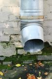 Pipe for rainwater drainage Stock Images