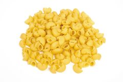 Pipe rigate pasta  on white background.  Royalty Free Stock Photo