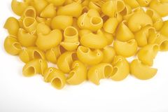 Pipe rigate pasta  on white background.  Royalty Free Stock Photography