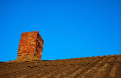 Pipe in a roof Stock Photography