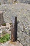 Pipe rouillée en métal photographie stock
