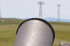 Pipe rouillée en métal image libre de droits