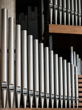 Pipe. Row of organ pipes at Coventry cathedral, England, UK Stock Photography