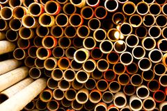 Pipe for scaffolding Royalty Free Stock Photo