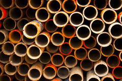 Pipe for scaffolding. Pipe for contruction in factory Stock Photo