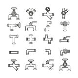 Pipe set icon vector. Stock Images