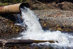Pipe of sewage Royalty Free Stock Image