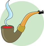 Pipe with smoke Royalty Free Stock Photos