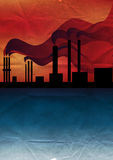 Pipe smoke polluting the atmosphere. The environment Stock Images