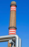 Pipe and smoke stack of the power station Royalty Free Stock Photos
