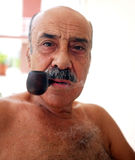 Pipe Smoker Royalty Free Stock Photos