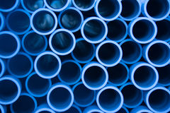 Pipe stack. Stack of pipes waiting on a construction site Stock Photos