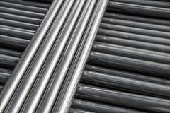 Pipe steel. Circle pipe aluminium steel, metal for industry Stock Photos