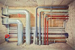 Pipe system Stock Image