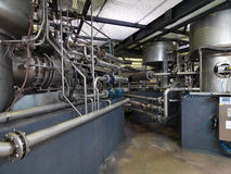 Pipe system in a modern factory Stock Images