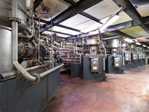 Pipe system in a modern factory Stock Photo