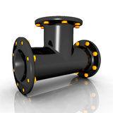 Pipe T-Fitting Stock Images