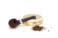 Pipe and tobacco Royalty Free Stock Image