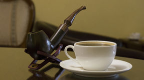 Pipe tobacco and coffe Stock Image