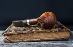 Pipe with  tobacco Stock Photos