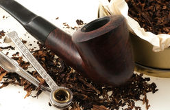 Pipe with tobacco Stock Photography